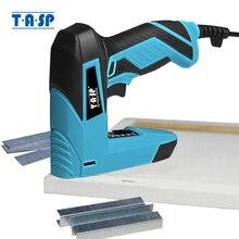 TASP 230V 2 w 1 elektryczny gwoździarka i zszywacz zszywacz mebli do ramy ze zszywkami i gwoździami stolarstwo elektronarzędzia do obróbki drewna