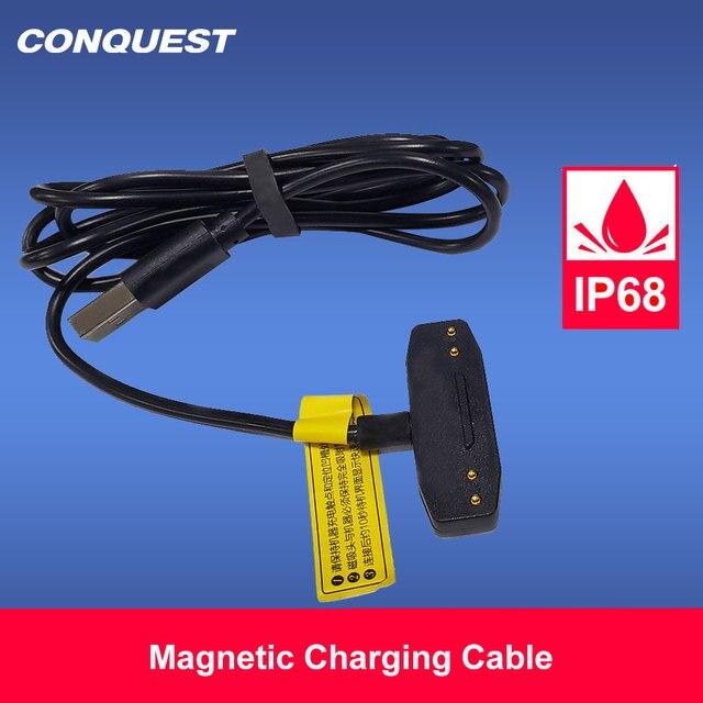 100% Orijinal manyetik kablo CONQUEST S6/S8/S9/S11/S12 için hızlı şarj güçlendirilmiş akıllı telefon USB manyetik şarj kablosu