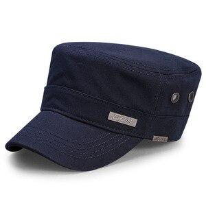 Image 4 - Spring Big Head Man Large Size Army Flat Cap Men Summer Cotton Plus Size Mesh Military Hat 55 60cm 60 65cm