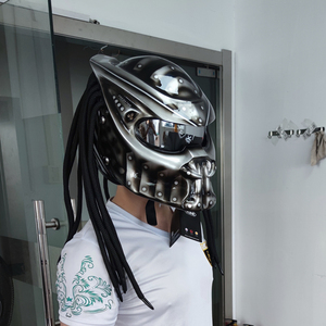 Motorcycle Predator Helmet Flexible Strip Lighting Full Face DOT High Quality Casco Moto Depredador Colorful Lens