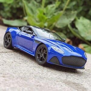 Модель автомобиля welly 1:24 Aston Martin DBS Superleggera, модель автомобиля из сплава, коллекция украшений для автомобиля, Подарочная игрушка, модель для ли...