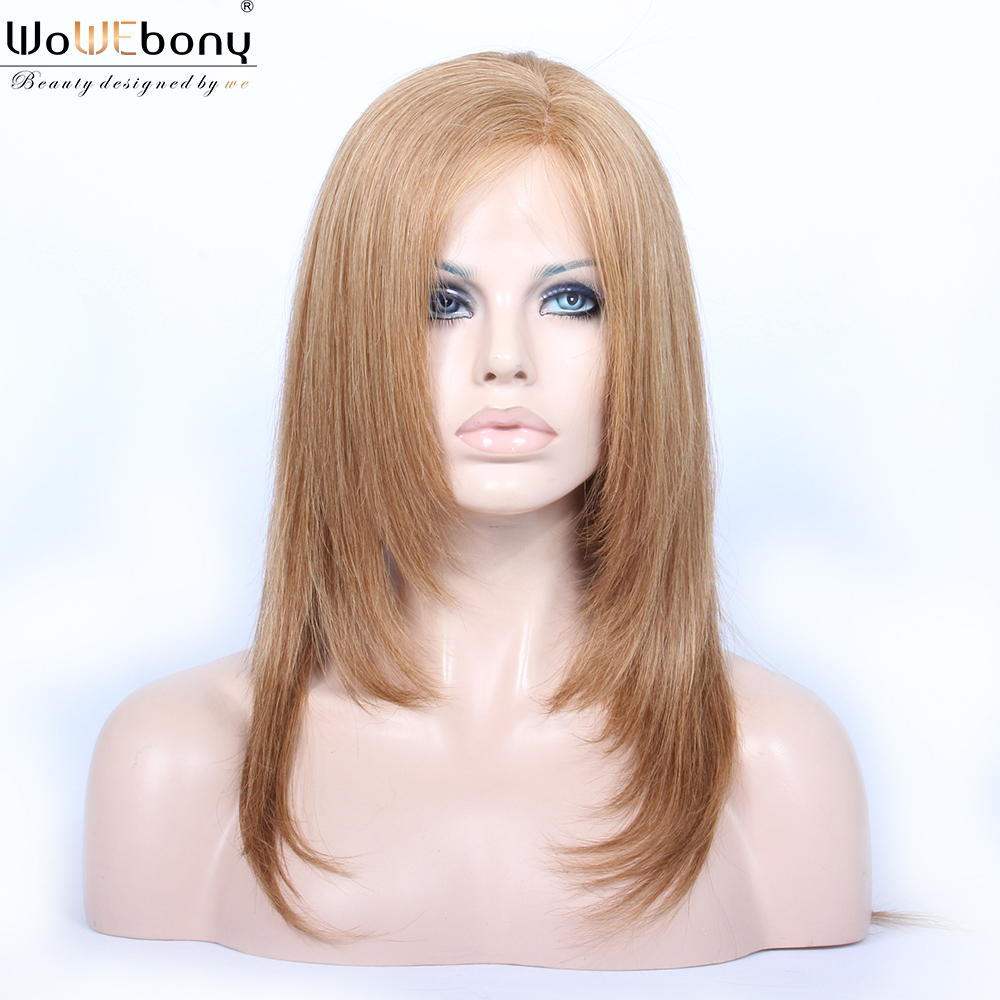 27A Blonde Full Lace Human Hair Wigs Star Style Straight Human Hair Wig 150 Density Transparent Full Lace Wig Pre Plucked 12-24