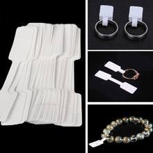 100 pçs tamanho prático preço etiqueta tags jóias em branco colar pegajoso anel adesivo pulseira exibir etiquetas adesivos