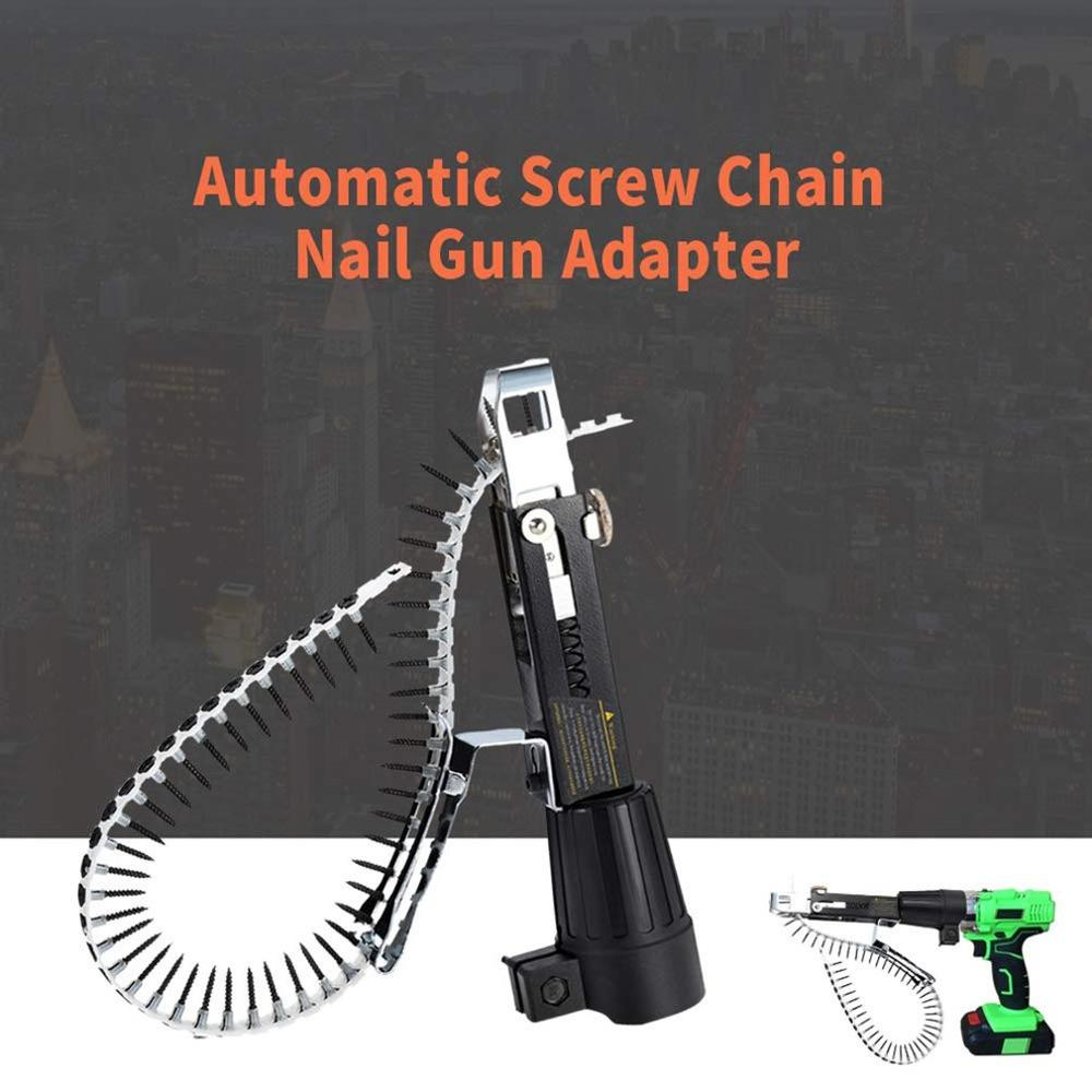 Automatic Electric Drill Nozzle Adapter Chain and Nail Nails Kit Home Tool Chain Tool Machine Accessories With Screws|Angle Grinder| |  - title=