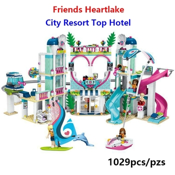 New Lepining girl Friends hospital Heartlake City Resort 41347 Top Hotel Building Blocks Kit Kids Fun Toys Set for Girls gifts 1