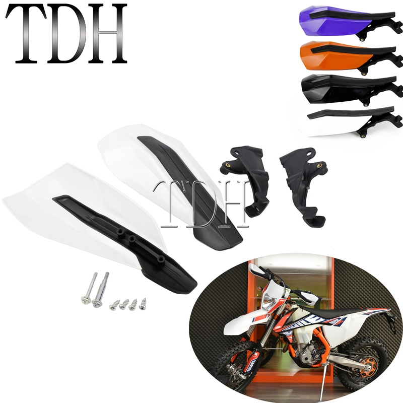 White Dirt Bike Motocross Handguard for <font><b>KTM</b></font> XC-W 150 EXC-F 250 XC-F XC-W XC 300 350 <font><b>450</b></font> 500 <font><b>2017</b></font> 2018 2019 Hand Guards image