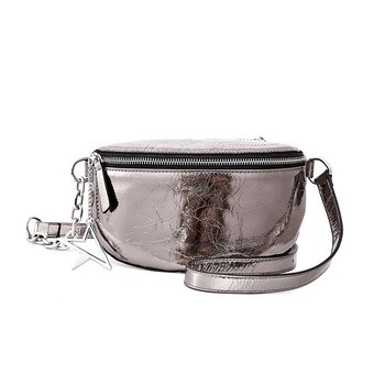 Women Stars Messenger Bag Genuine Leather Cowhide Waist Bag Female Belly Chain Chest Belt Bags Fanny Pack Crossbody Bags