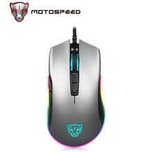 Motospeed V70 USBเมาส์สำหรับเล่นเกมแบบมีสายPMW3325 5000DPI PMW3360 12000 DPIคอมพิวเตอร์RGB LED Multi Color Backlightส่งกับกล่อง