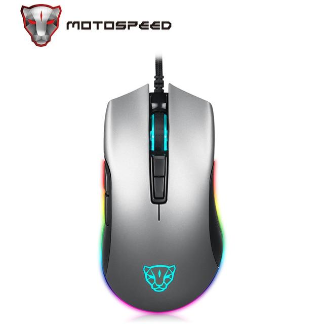 Motospeed V70 przewodowa mysz dla graczy z USB PMW3325 5000DPI PMW3360 12000 DPI komputer RGB LED wielokolorowe podświetlenie wyślij z pudełkiem