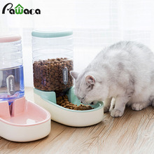 3.8L Pet Cat Automatic Feeders Plastic Dog Water Bottle Large Capacity Food Dispenser Cats Dogs Feeding Bowls Drinker