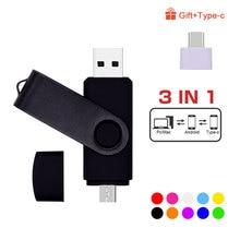 Custom Logo Double Use Android OTG USB Flash Drive Pen Drive 4gb 8gb 16gb 32gb 64gb USB2.0 Pendrive Flash Drive 3 In 1 USB Stick