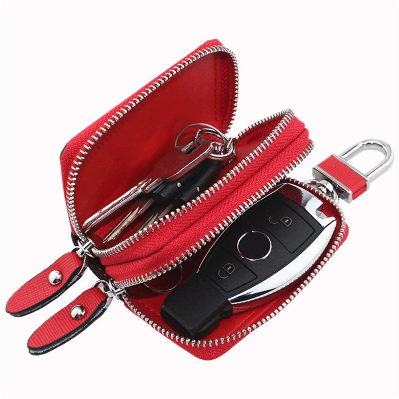 Leather Unisex Key Bag Multifunction Organizer Wallet Holder Housekeeper Car Small Key Case Keys Pouch