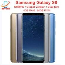 Samsung Galaxy S8 Duos G950FD Две сим-карты, 4 Гб оперативной памяти, 64 Гб встроенной памяти, глобальная версия мобильного телефона NFC 6,2