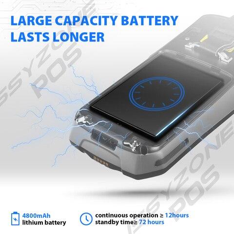pos barcode scanner com 4800 mah bateria
