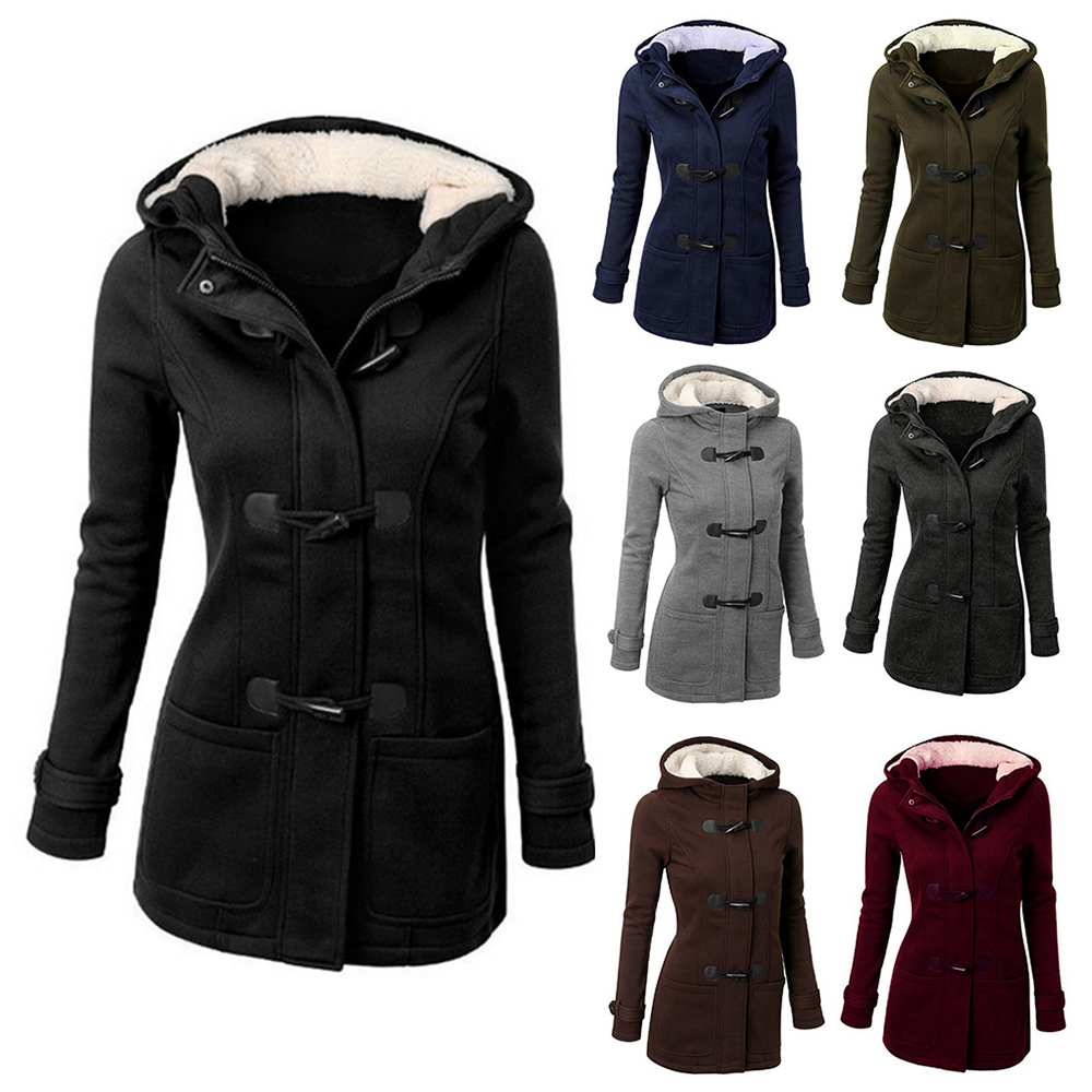ROSEGAL Women   Basic     Jacket   Coat Female Parkas Long Hooded Coat Parkas Overcoat Zipper Button Outwear   Jackets   6XL Autumn Winter