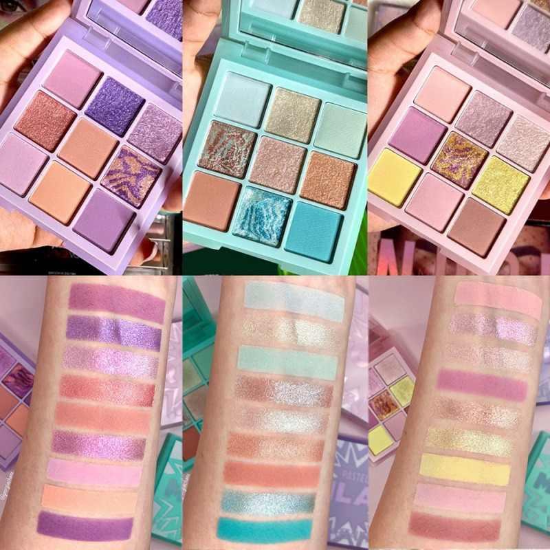 9 Kleuren Draagbare Matte Shimmer Eyeshadow Palette Langdurige Oogschaduw Mint Pastels Lila Oogschaduw Dagelijkse Make-Up Pallet Set