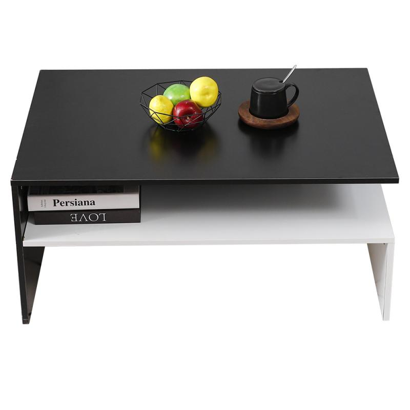 Modern Style Coffee Table Home Office Living Room Table Black And White Minimalist Style Table 2020 NEW HWC