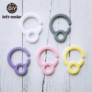 Image 1 - LetS Make 50Pc Plastic Double Buckle Pacifier Chain Personalized Pacifier Clip Baby Bed Hanging Rattles Stroller Toys For Baby
