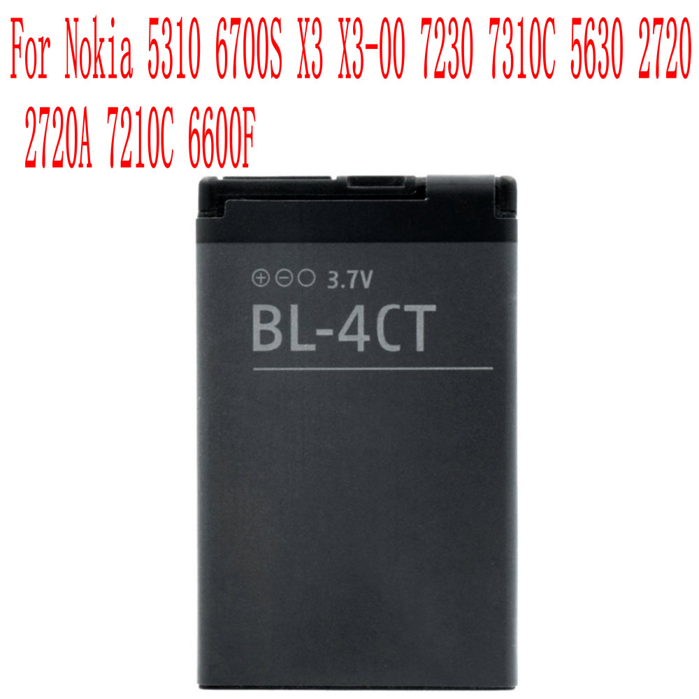 High Quality 860mAh BL-4CT Battery For Nokia 5310 6700S X3 X3-00 7230 7310C 5630 2720 2720A 7210C 6600F Cell Phone(China)
