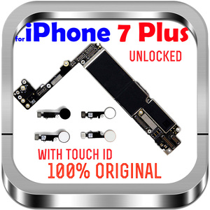 """Image 2 - Unlocked Factory For IPhone 7Plus With / Without Touch ID No iCloud Mainboard 100% Original For IPhone 7 Plus 5.5"""" Motherboard"""