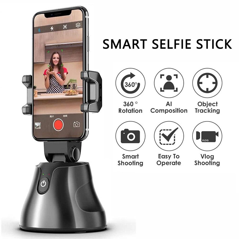 Palo selfie inteligente port/átil todo en uno rotaci/ón de 360 360 auto seguimiento de rostro y objetos Vlog disparo soporte para smartphone
