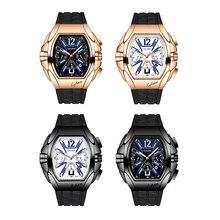 Мужские автоматические часы многофункциональные механические наручные часы светящиеся часы водонепроницаемые часы Полный календарь циферблат часы