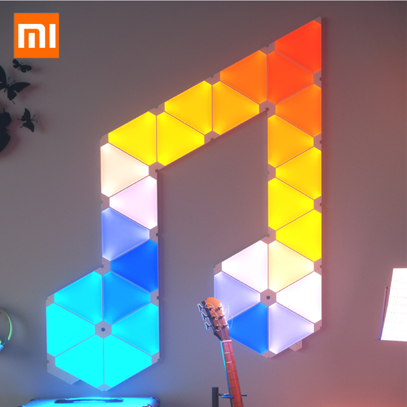 Original Xiaomi Nanoleaf Full Color Smart Odd Light Board Work With Mijia For Apple Homekit Google Assistant Setting 4pcs/1box