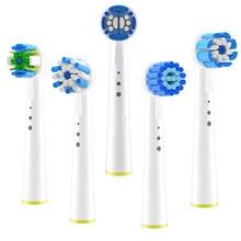 4 pçs sensível goma cuidados escova de dentes cabeças para oral b braun cabeça escova avanço power/pro saúde/triumph/3d excel cabeça da escova