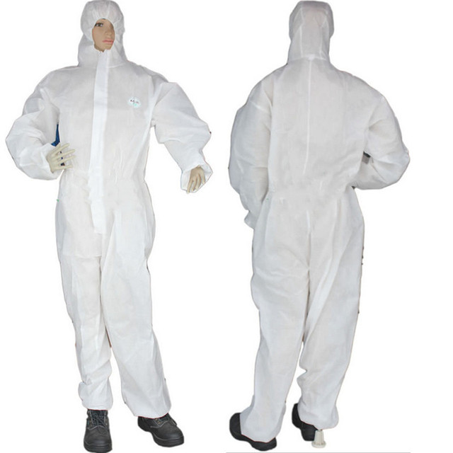 Disposable Coverall Hazmat PPE Suit Dust free Factory Workshop Protective Clothing Hospital Health Protection Safety Clothing 2