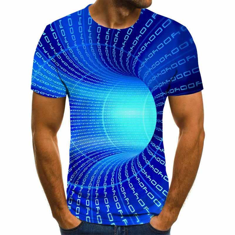 2020 Nieuwe Driedimensionale Vortex T-shirts Mannen Zomer 3D Print Casual 3D T-shirt Tops Tee XXS-6XL