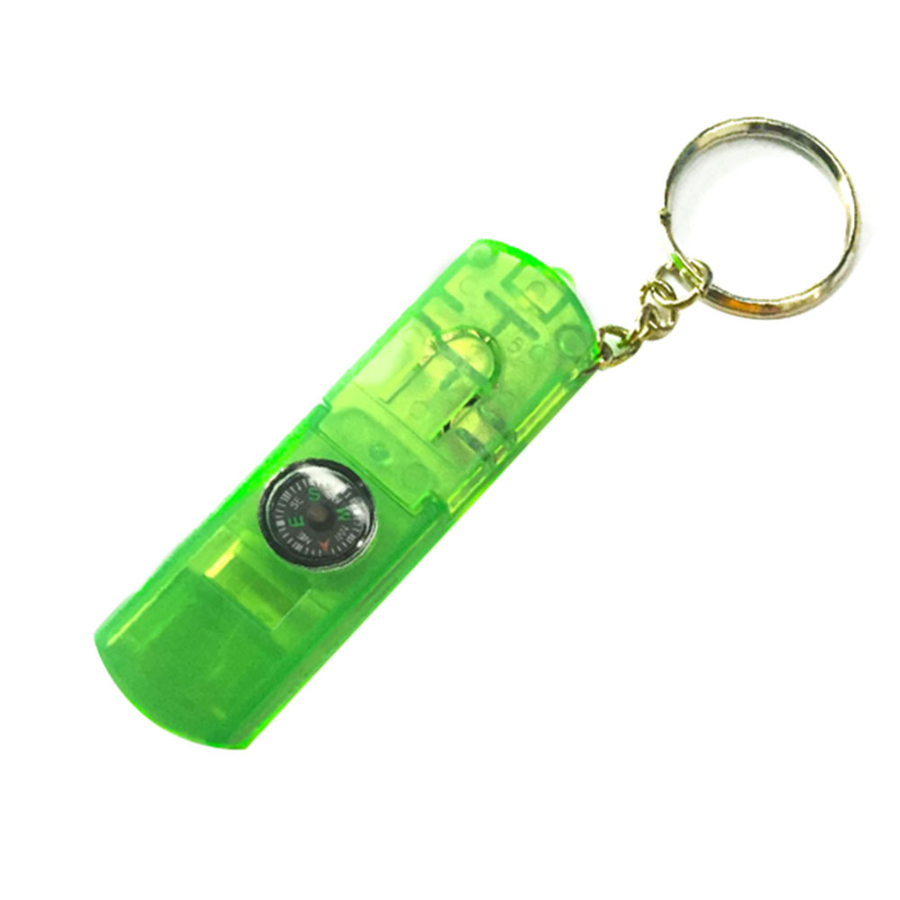 4 In 1 Accessories Camping Lamp Survival Kit Emergency Multifunctional Outdoor Equipment Whistle Led Light With Keychain