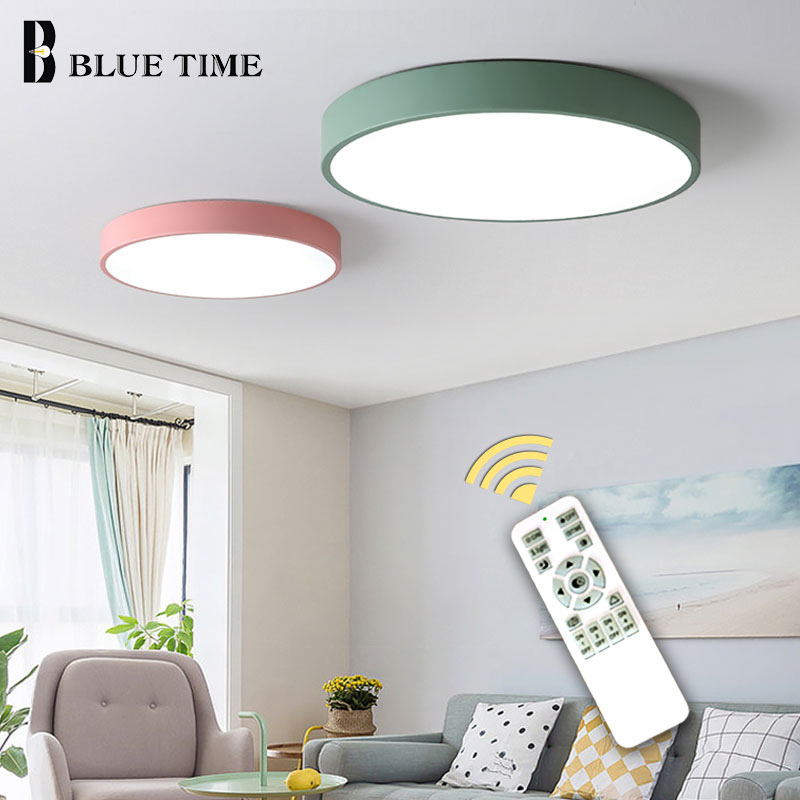Image 5 - 5cm Super Thin Ceiling Light for bedroom Living Room Bedroom Kitchen Surface Mount Remote Control ceiling lamp home lighting-in Ceiling Lights from Lights & Lighting