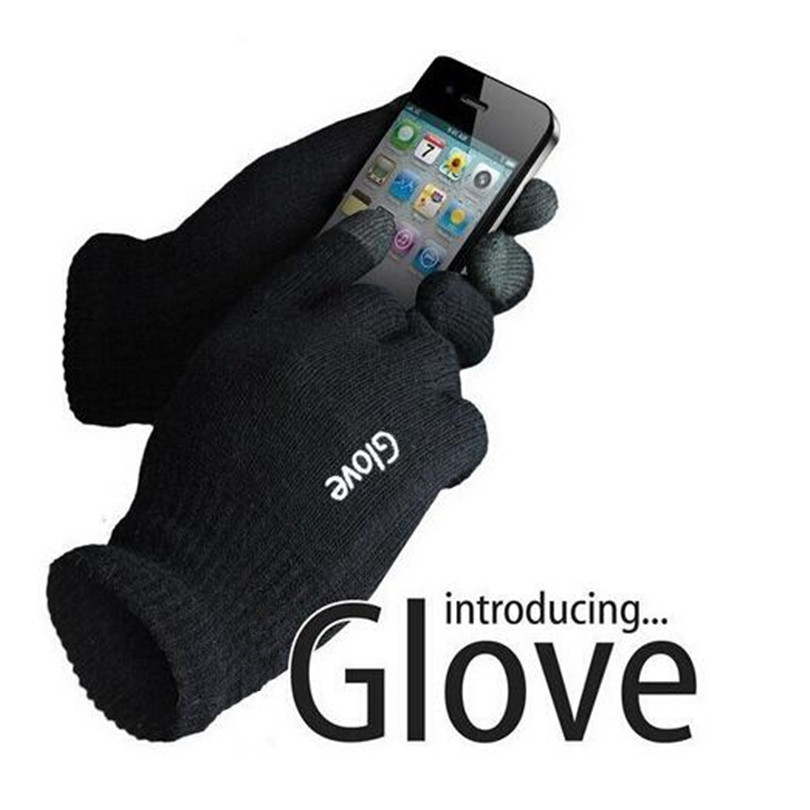 LJCUIYAO Fashion Unisex Gloves Colorful Mobile Phone Touched Gloves Men Women Winter Mittens Black Warm Smartphone Driving Glove