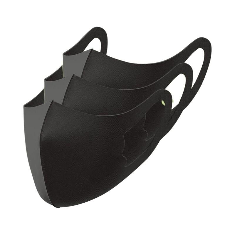 Ice Silk Masks Washable Anti Dust Allergies Mask Travel Reusable Adjustable