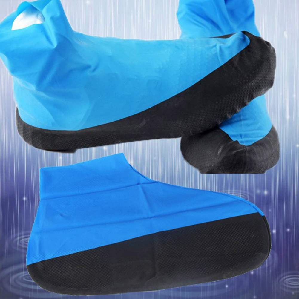1 Pair Reusable Latex Shoe Cover M/L Waterproof Rain Shoes Covers Outdoor Camping Slip-resistant Rain Boot Overshoes Rain Boots