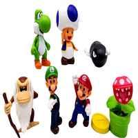 Figuras de acción de Super Mario Brother, 1 Uds., juguetes de Pvc para niños, articulaciones activas, mono, hongo, dragón