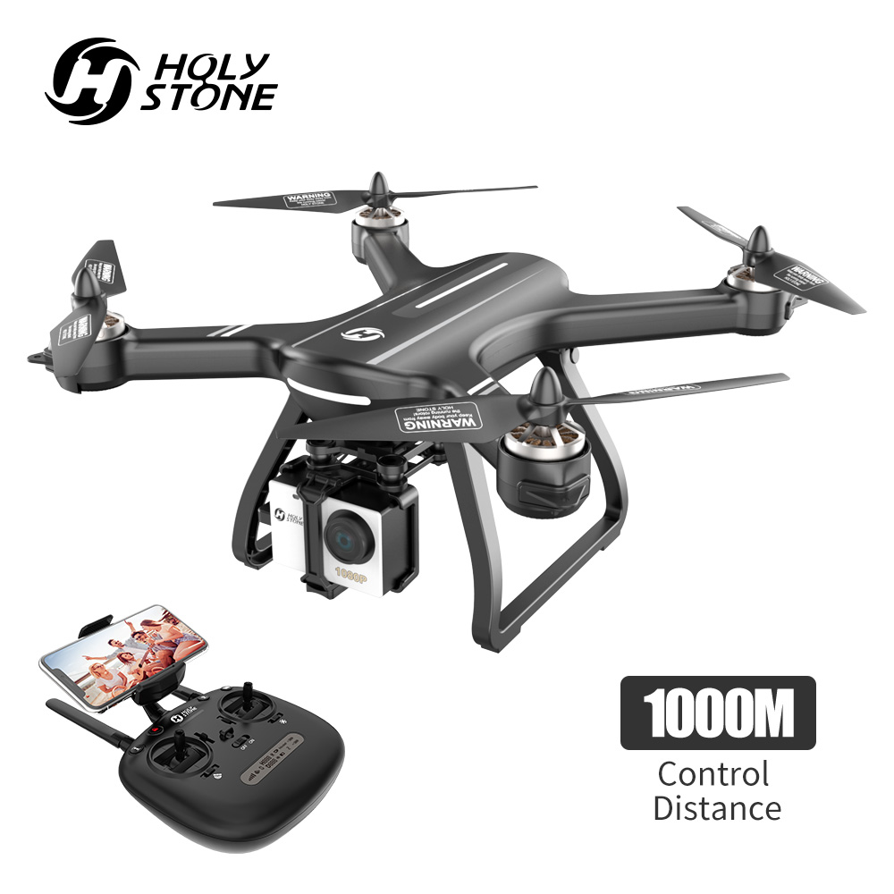 Holy Stone HS700 GPS Drone 5G 1080P Camera 1000 meters Flight Brushless Drone Profissional Motor WIFI FPV GPS Selfie Quadcopter-in RC Helicopters from Toys & Hobbies    1