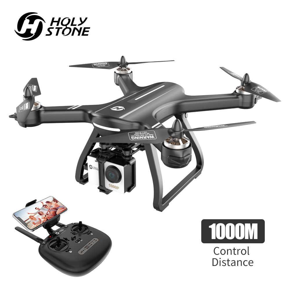 Holy Stone HS700 Дрон с gps 5G 1080P камера 1000 метров бесколлекторный Дрон профессиональный мотор wifi FPV gps селфи-Квадрокоптер
