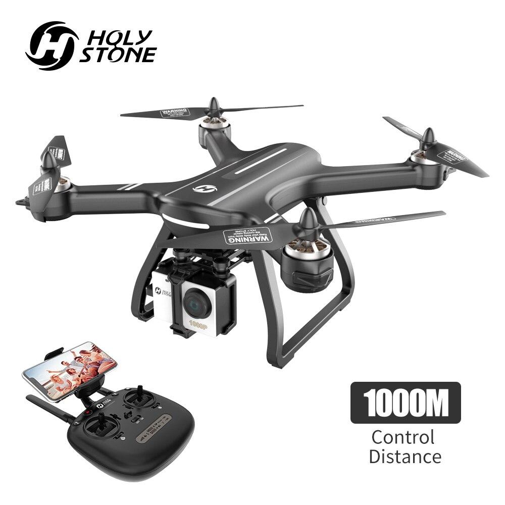 Pedra sagrada HS700 5G 1080P Camera 1000 metros de Vôo GPS Zangão Brushless Motor Profissional WIFI FPV Zangão GPS selfie Quadcopter