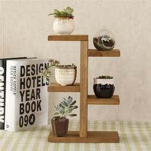 Стеллаж для хранения, мини-подставка для растений, небольшой табурет, деревянный многоуровневый суккулентный горшок, подставка для дома или офиса, декоративные
