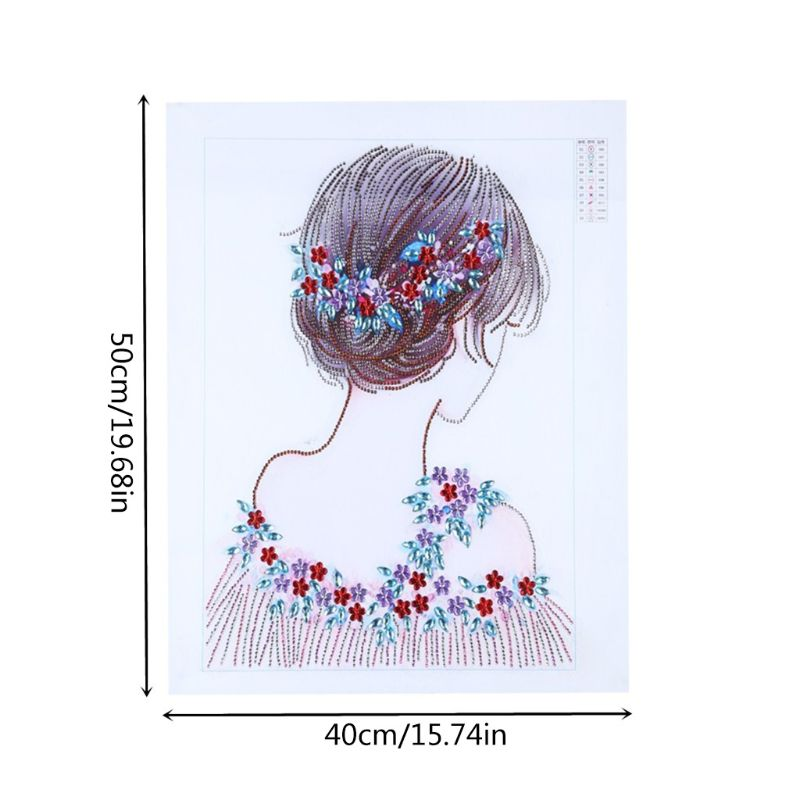 DIY 5D Special Shaped Diamond Girl Painting by Number Kits Full Drill Rhinestone Embroidery Cross Stitch Pictures for Christmas in Diamond Painting Cross Stitch from Home Garden
