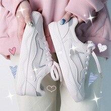 Fashion Women Sneakers New Arrival White Flats Mesh Leather Women