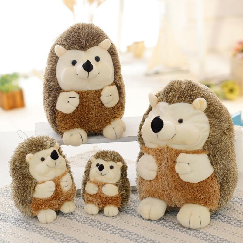 17-22CM Hedgehog Plush Toy Soft Hedgehog Doll Stuffed Animal Toys Cartoon Animal Kawaii Christmas Birthday Gift For Kids Dolls