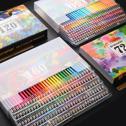 Brutfuner 48/72/120/160/180 Color Professional Oil Color Pencils Set Wood Soft Watercolor Pencil For Drawing Sketch Art Supplies