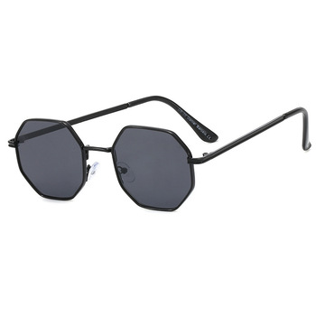 Higodoy Polygon Sunglasses Men Vintage Octagon Metal Sunglasses for Women Luxury Brand Goggle Sun Glasses Ladies Gafas De Sol 11