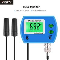 Professional 2 in 1 pH Meter EC meter for Aquarium Multi parameter Water Quality Monitor Online pH / EC monitor Acidometer