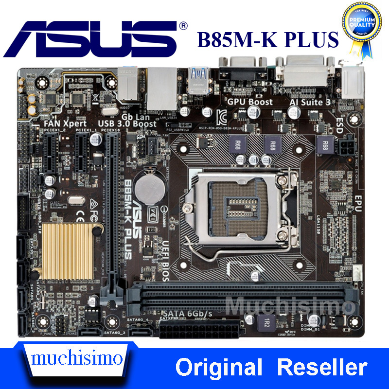 For ASUS B85M-K PLUS <font><b>Socket</b></font> LGA1150 Mainboard USB3.0 SATA3 Original Desktop Intel B85 Motherboard DDR3 Refurbished Unrepaired image