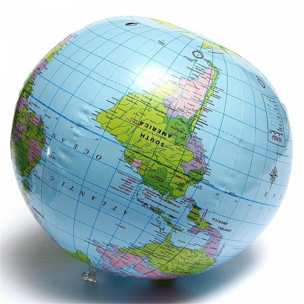30cm Inflatable Blow Up World Globe Earth Map Ball Educational Planet Earth Ball Ocean Kid Learning Geography Toy Home 6