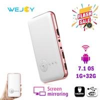 Wejoy Mini Projector DL S6 8/32G Portable Mobile Phone Projector mini tv portatil bolsi FHD Pocket Smartphone Beamer DLP Android