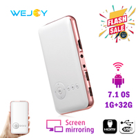 Wejoy Mini Projector DL S6 8/32G Portable Mobile Phone Projector mini tv portatil bolsi FHD Pocket Smartphone Beamer DLP Android